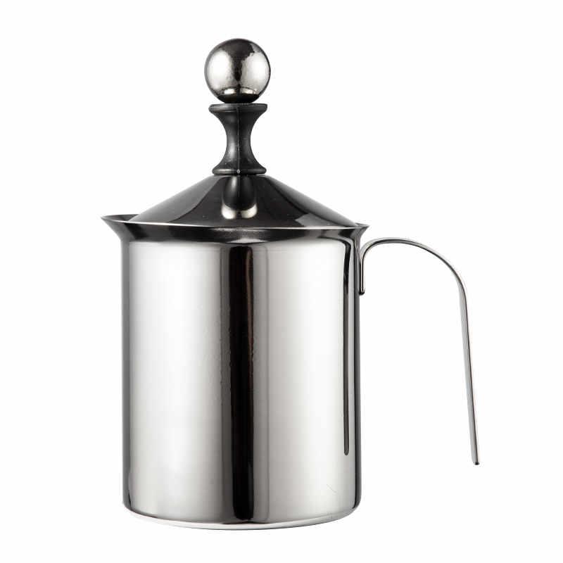400/800 ML Manual de Aço Inoxidável Batedor de Leite cappuccino Café Malha Leite Creamer Leite Espuma Creamer Foamer Cozinha Applicance