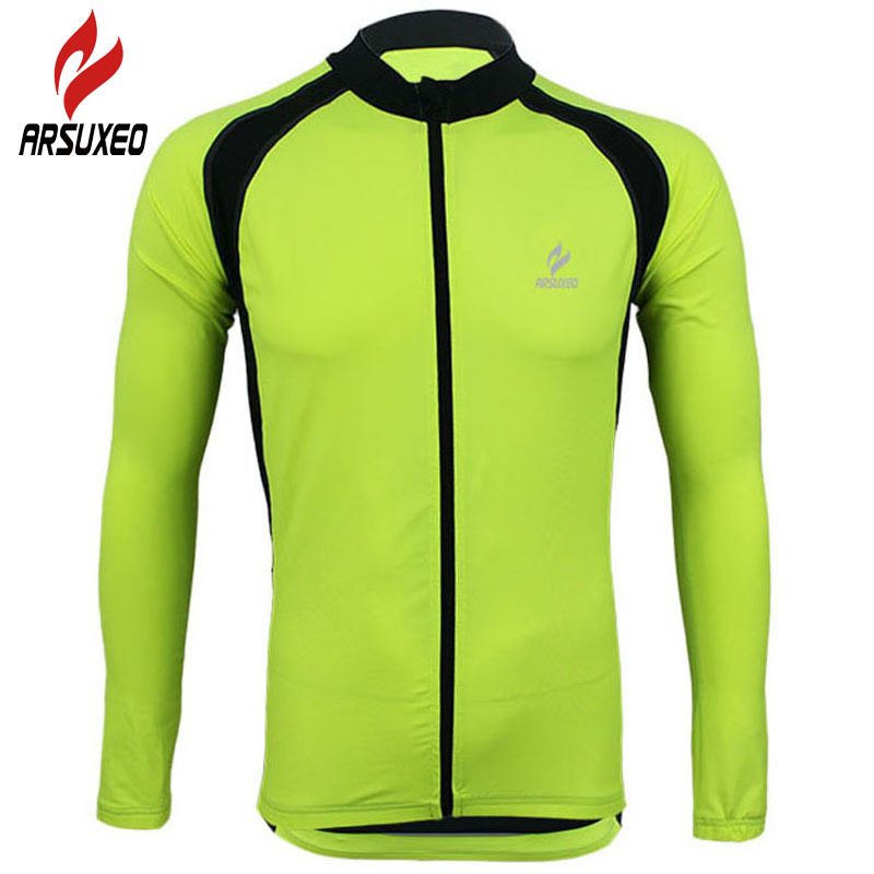 ARSUXEO Cycling Jacket 2017 Men MTB Bike Bicycle Motocross Downhill Jersey Basketball Running Clothing Maillot Ciclismo