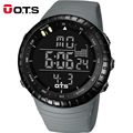 OTS Cool Black Digital Watches mens sports 50M Professional Waterproof Large dial LED hours Outdoor military Luminous wristwatch