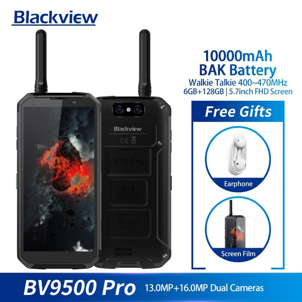 Blackview BV9500 Pro Mobile Phone Android 8.1 Octa Core 5.7 18:9 MTK6763T 6GB RAM 128GB ROM IP68 Waterproof Smartphone NFC OTG