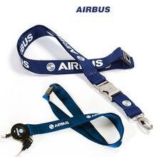 Airbus smycz dla Pliot załogi lotniczej prawo jazdy posiadacz karty ID karty pokładowej ciąg Sling metalowa klamra osobowość wyjątkowy prezent