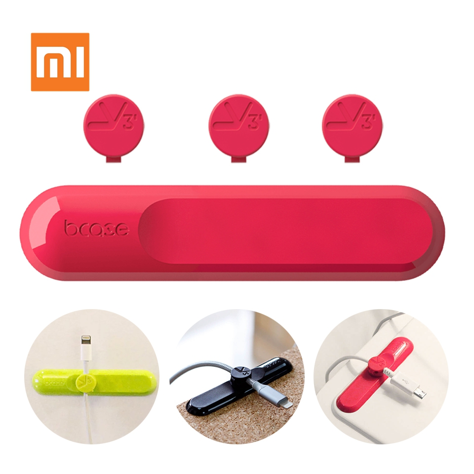 Xiaomi Mijia Bcase TUP Magnetic Absorption Cable Clip Holder Colorful Compatibility Practical Magnetic Base Desk Organizer