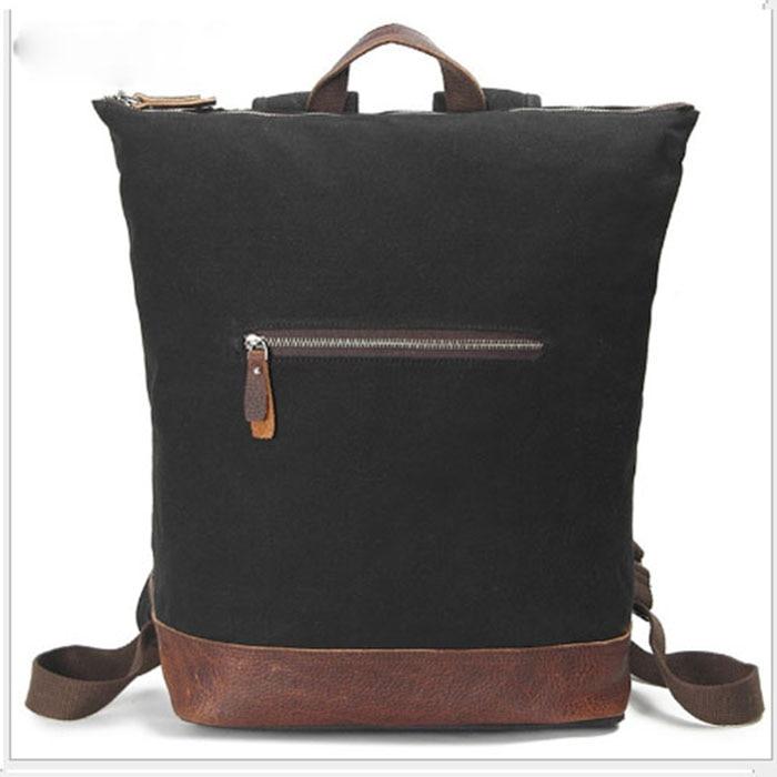New fashion Casual Canvas Men Backpack Retro Vintage Male Students School Bags Man Shoulder Bags mochila masculina black/gray цена