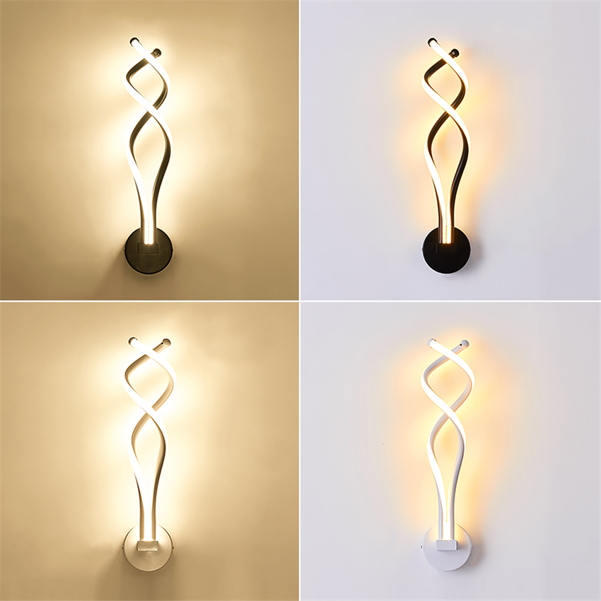 Modern LED Wall Lights Iron Bedside Wall Lamp Bedroom Living Room Corridor Lighting Decoration Wall Lamps Kitchen Fixtures Avize modern minimalist acrylic wall lamps smd led creative circle wall lights bedroom bedside lighting corridor balcony stairs lamp