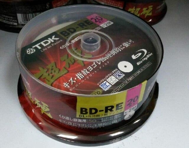 Miễn phí vận chuyển ray blue ray Disc BD-RE DL 50 GB BDR 50g 2X-4X 20 cái/lốc