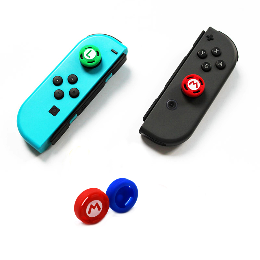 4 pcs Nintend Switch NS Accessories Joystick Caps Silicone Case Thumbstick Grips Cover for Nintendo Joy-con 1