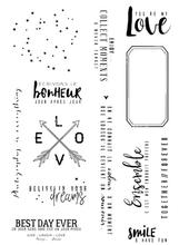 French Transparent Clear Stamp for DIY scrapbooking/Card Making  C604