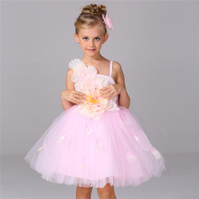 New Summer Tulle Flower Girl Dresses for Birthday Christmas Wedding Party White Pink Red Kids Baby