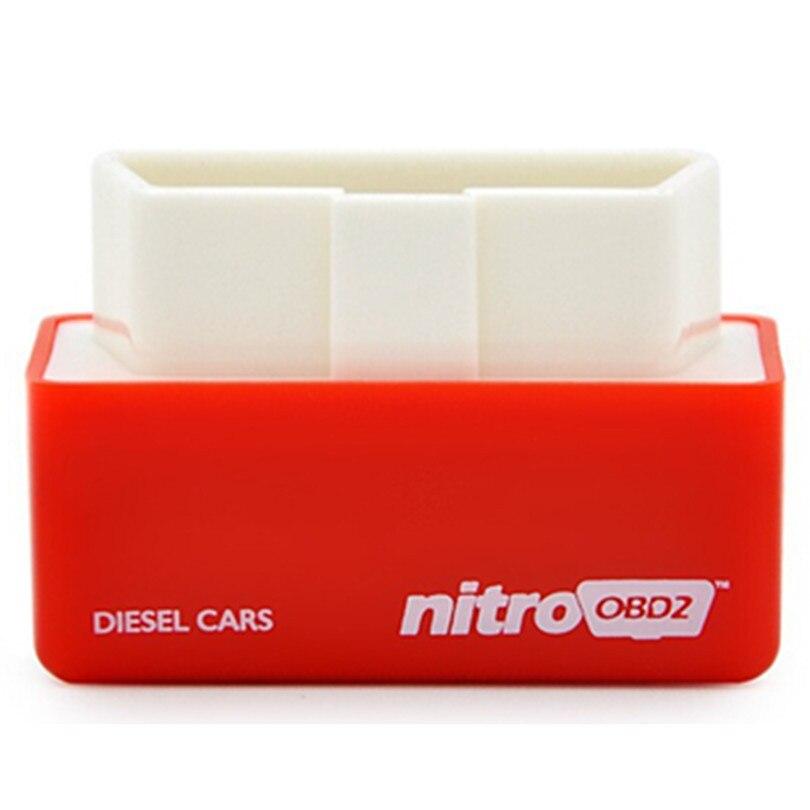 Новое поступление + + + качество Nitro OBD2 Diesel чип-тюнинг автомобиля коробка подключи и Драйв NitroOBD2 для дизельных автомобилей Интерфейс БД