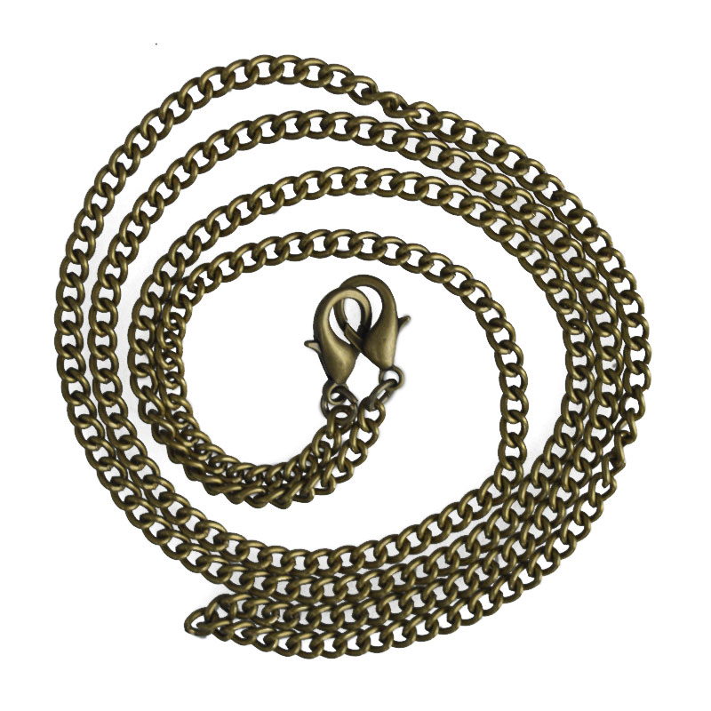 120cm Replacement Metal Chain For Shoulder Bags Crossbody Handbag Antique Bronze Handle DIY Bag Strap Accessories