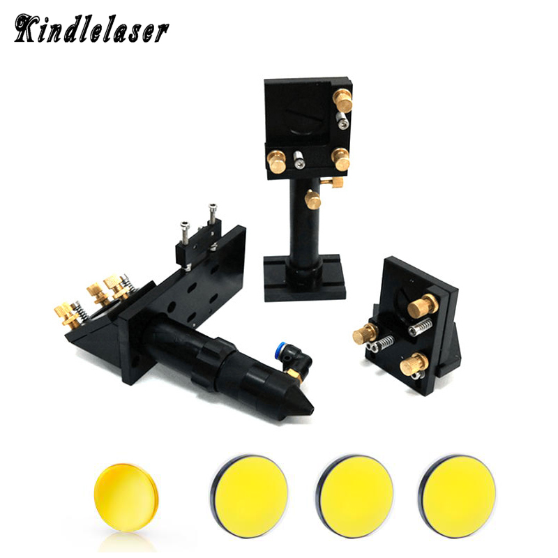 CO2 Laser Head Set & Si Mirror 25mm & Focus Lens 20mm Focal Length 50.8/63.5/101.6mm Laser Set for Laser Engraving Machine kzltd 3 phase solid state relay ssr 25a ssr 25 dc to ac solid state relay 25 ssr relay three phase ssr 25a high quality rele