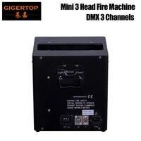 Gigertop TP T160 3 глава мини этап пожарная машина 3 DMX каналов адрес провалы переключатель 3PIN XLR Сингал разъем в/ из 3 масляный бак газа