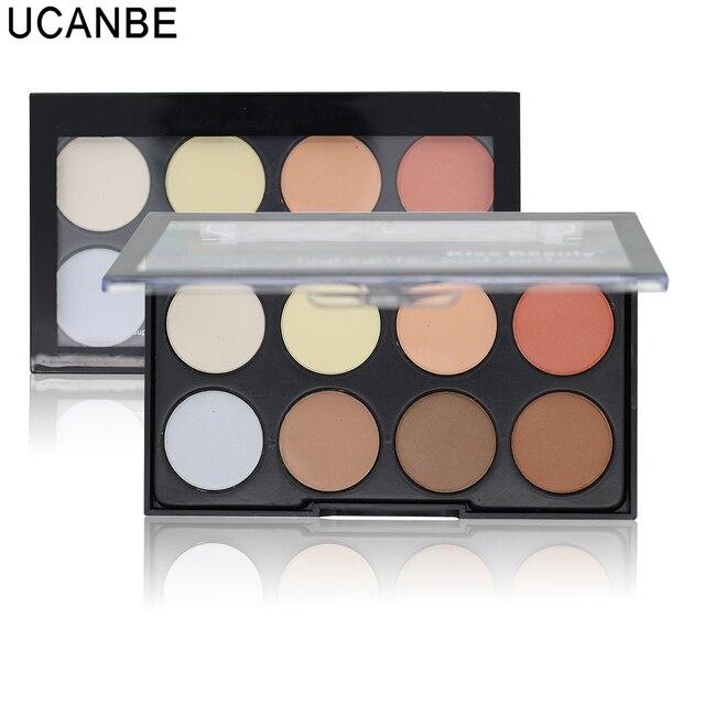 Professional 8 cores ilumine Concealer Contour 3 em 1 em pó paleta 3D contorno maquiagem Face Bronzer pó compacto maquiagem