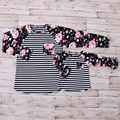 2016 Icing Ruffle Raglan Shirt Mommy And Me Clothes Outfits Mother Daughter Top Shirts Fall Family Matching Clothing Autumn