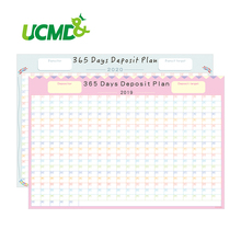 365 Days Calendar Planner Creative Periodic Deposit Planning Paper Year Plan Annual schedule Student Office Supplies