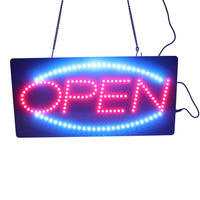 New 19 X 10 High quality flashing Animated Motion Running LED Business Neon OPEN SIGN +On/Off Switch Bright Light Neon
