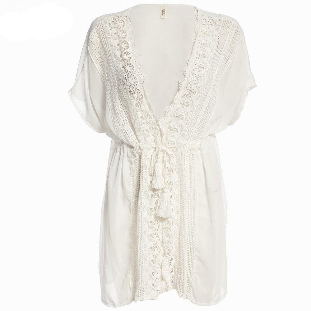 Aliexpress.com : Buy Summer Beach Loose Bikini Blouse Women White ...