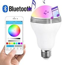 Wireless E27 LED RGB Bluetooth Speaker Bulb Light Lamp AC110V/220V Music Playing & RGB Lighting Phone control Best Sound Quality(China)