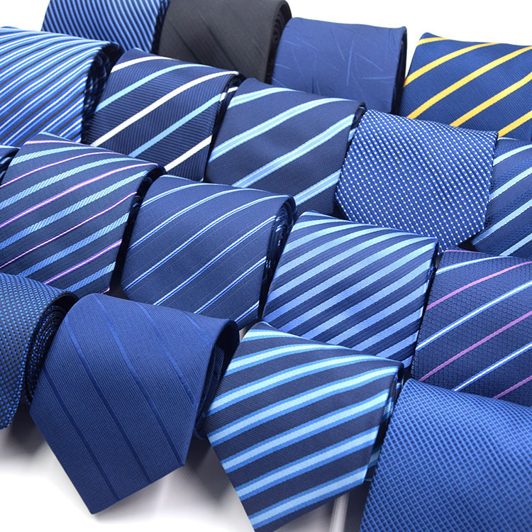 89 Styles Blue Men's Ties Solid Color Stripe Flower Floral 8cm Jacquard Necktie Accessories Daily Wear Cravat Wedding Party Gift