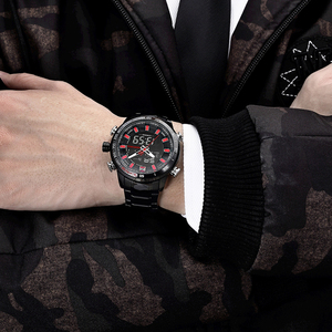 Image 3 - NAVIFORCE Mens Quartz Analog Watch Luxury Fashion Sport Wristwatch Waterproof Stainless Male Watches Clock Relogio Masculino