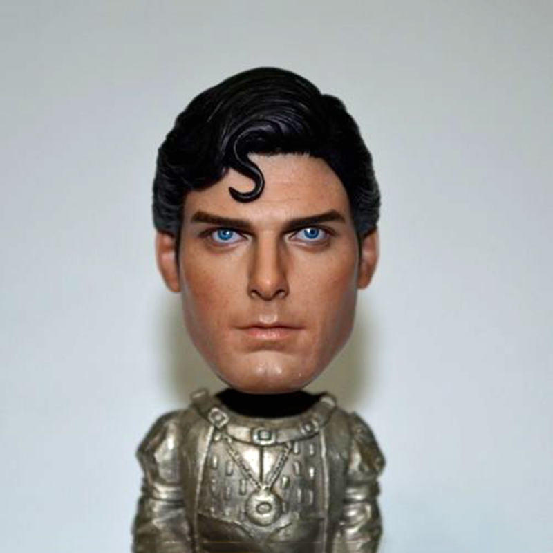 все цены на 1/6 Scale 1978 Christopher Reeve Superman Head Sculpt Head Carving Model Collectible Doll Toys Accessories в интернете