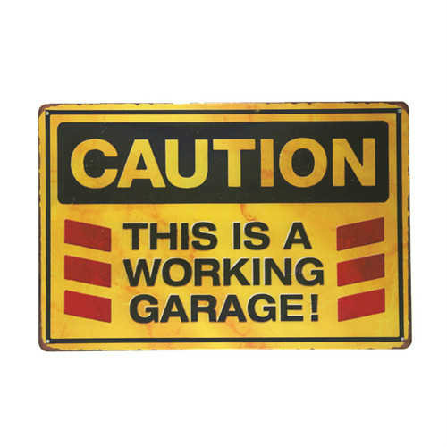 Retro Style Metal Warning Sign