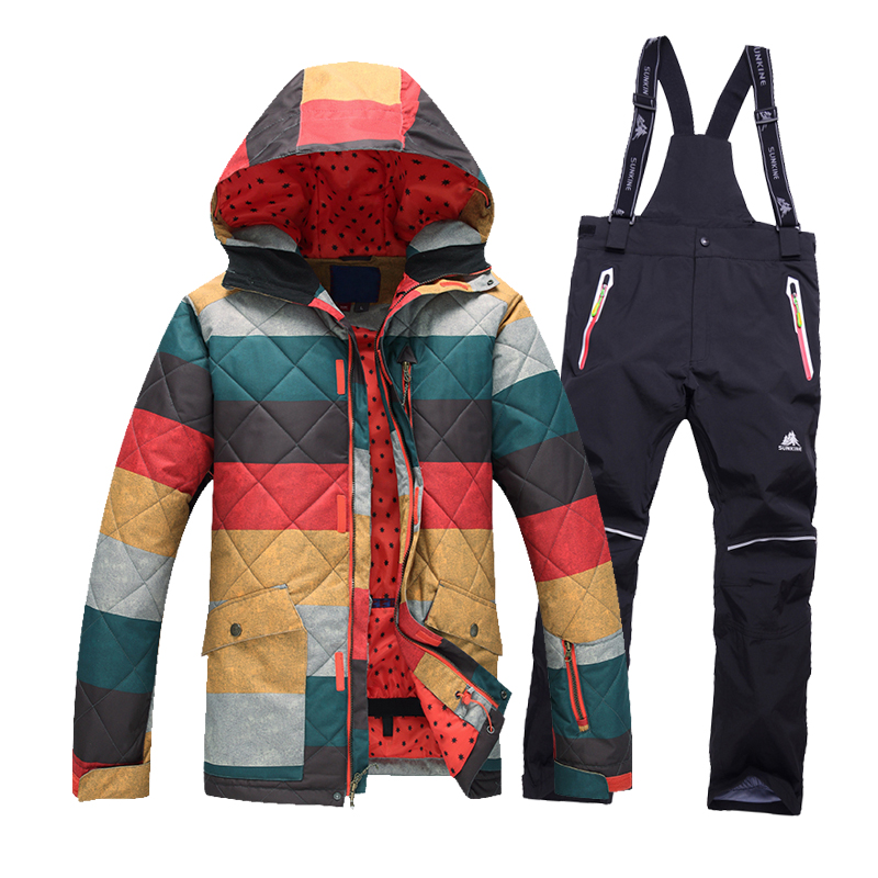 Free shipping Men Ski Jacket pants Cotton Padded Snowboard Clothe Outdoor font b skiing b font