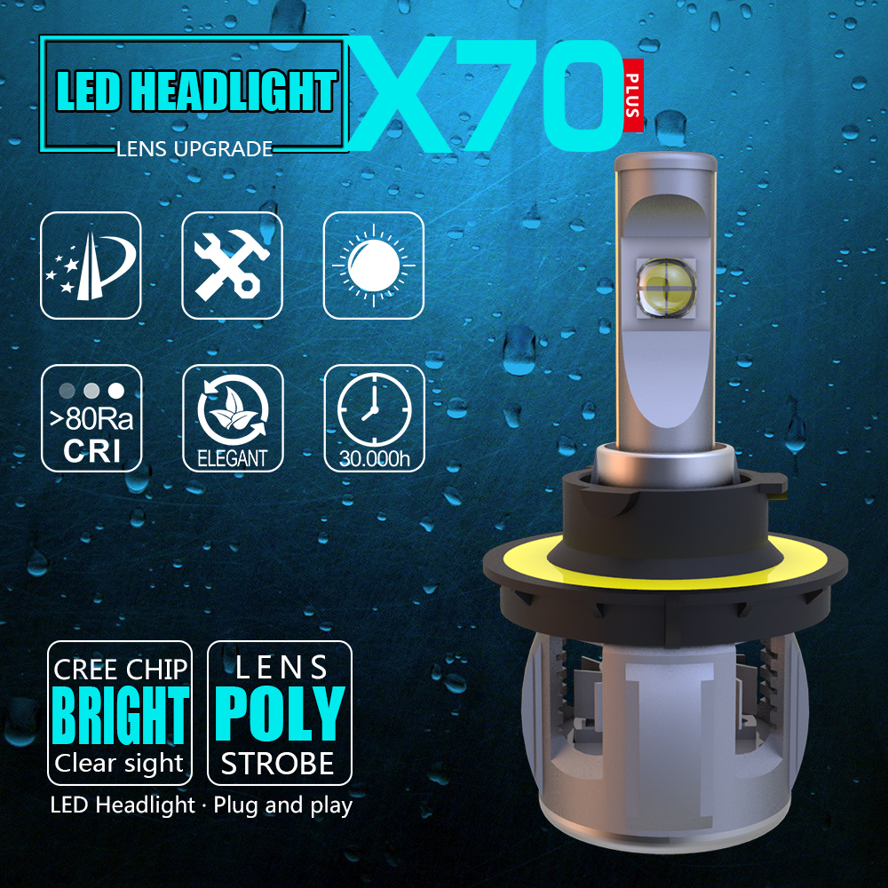 Knowledgeable 2018 Super Bright Loaut Xp70 Cr-ee Chips H13 Car Led Headlight Bulbs Hi-lo Beam 50w 8000lm 6500k 24v Universal Car Headlamp Automobiles & Motorcycles