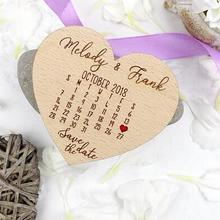 Персонализированные Календари сердце деревенский Свадебные деревянный сохранить Дата магниты свадебный душ партия выступает компания подарки приглашения