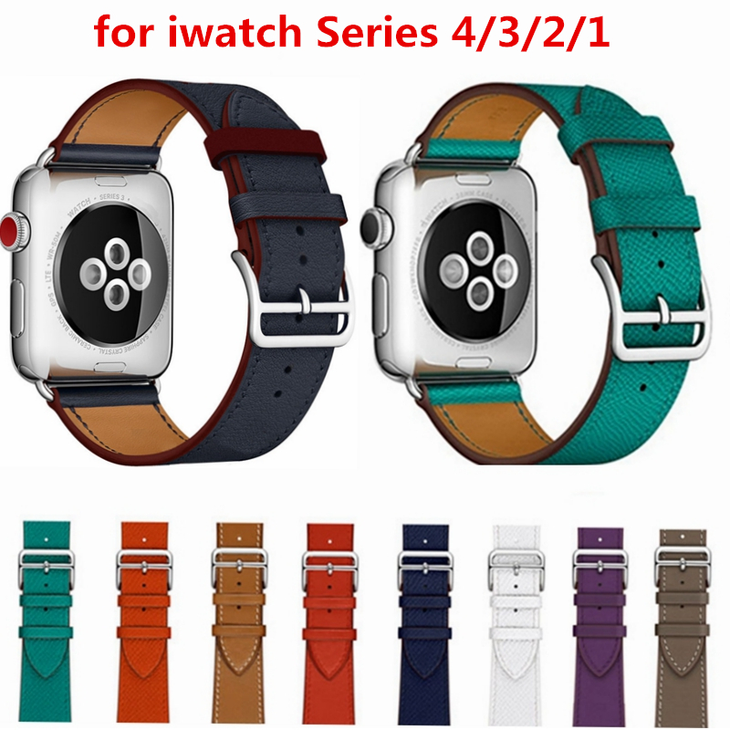 Series 4/3/2/1 Genuine Leather Bracelet Leather strap For Apple Watch Single Tour band for iwatch 38mm 42mm Genuine Leather Band eastar genuine leather for iwatch bracelet apple watch band 42mm 38mm sport bracelet for series 1