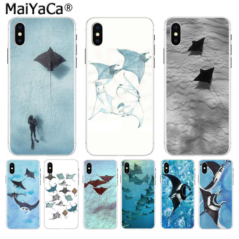 MaiYaCa Animale manta ray telefono per iphone SE 2020 11 pro 8 7 66S Plus X 10 5S SE XS XR XS MAX Coque Shell