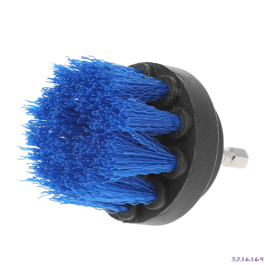 2 Drill Blue color Cleaning Brush Heavy Duty With Stiff Bristles For Carpet Car Mats New -38#