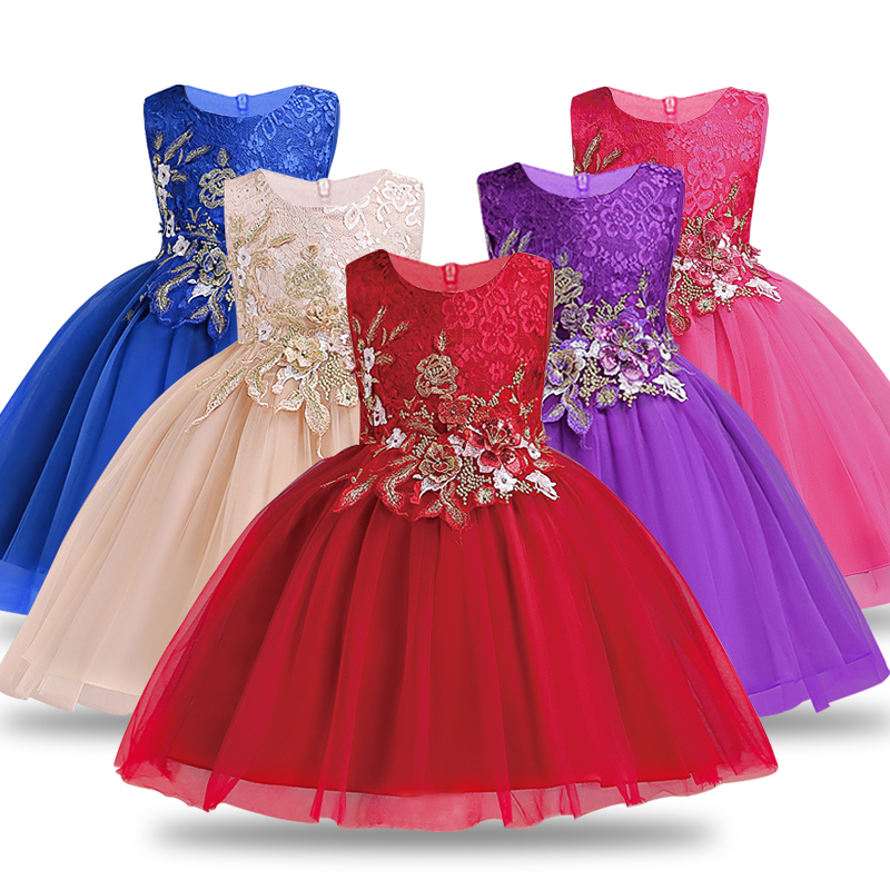 Dresses For Girls Clothes Summer Girls Dress Gown Kids Bridresmaid Wedding Dress Elegent Children Clothing Princess Vestidos gumprun girls summer dress vestidos floral embroidery princess dress children clothing knee length party dresses kids clothes