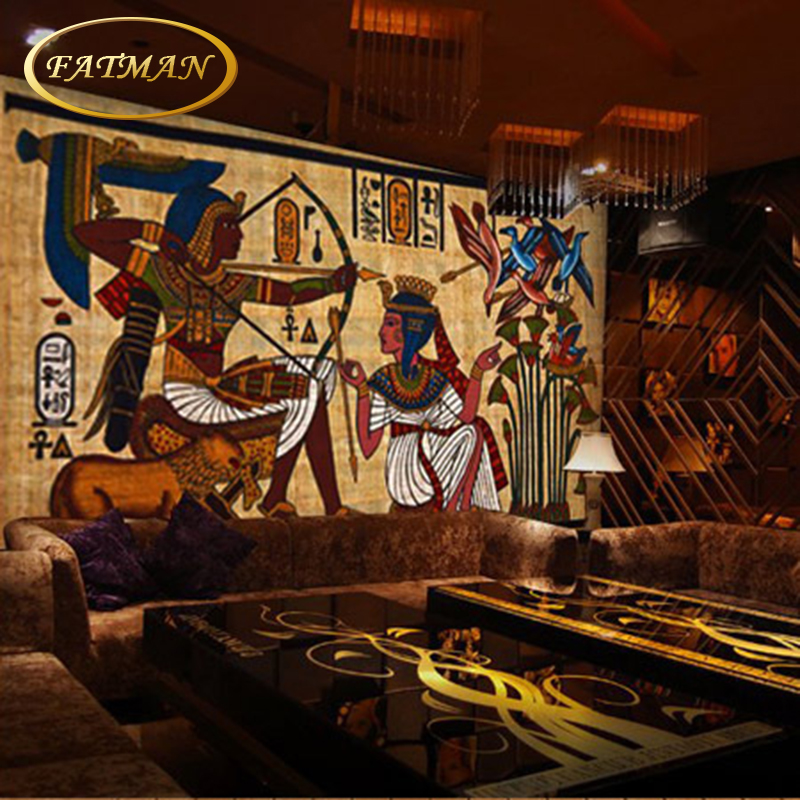 Custom 3d photo wallpaper personality mural wallpaper for Egyptian mural wallpaper