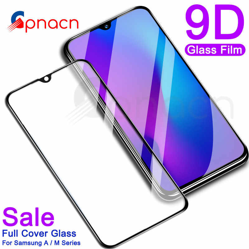 9D Full Cover Tempered Glass For Samsung Galaxy A10 A20 A30 A40 A40S A50 A60 A70 A80 A90 M10 M20 M30 Screen Protector Glass Film