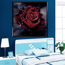 Diamond embroidery 5D flower diamond cross stitch crystal square  sets unfinished decorative diy  painting rose цена