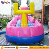 Inflatable jumping bed basketball bungee hoop 2N1 sport inflatable toys