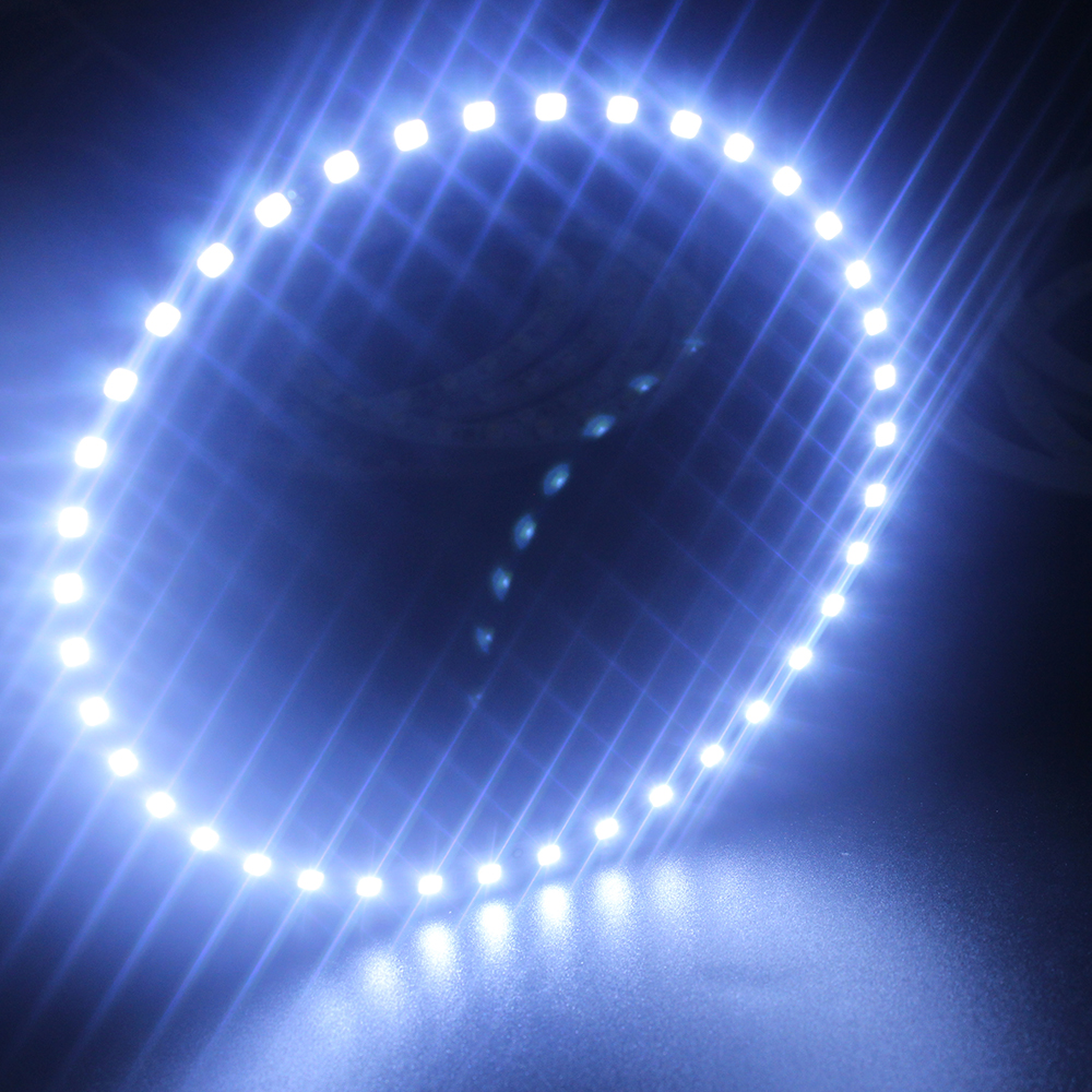 Blue 2PCS x Angel Eyes Halo Ring Light 130mm 3528 39 SMD Car Led Car Light