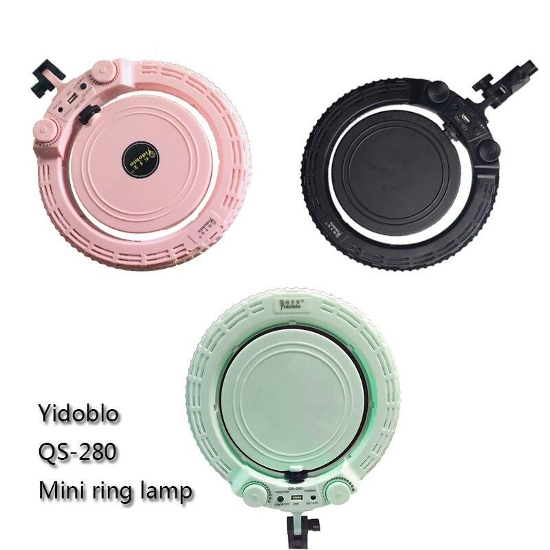Yidoblo Verde/Rosa/Nero QS 280 10 pollici mini Bellezza Anello Anello di Luce della lampada trucco Anello di Luce di trasporto libero - 5