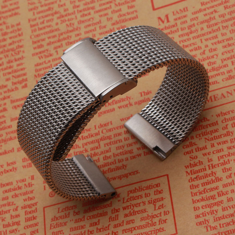 High quality Watchband Accessories Fashion Watches men straps bracelet 18m 20mm 22mm 24mm shark mesh stainless steel metal black new 16mm 20mm silver gold metal stainless steel watchband bands strap bracelets for brands watches men high quality accessories