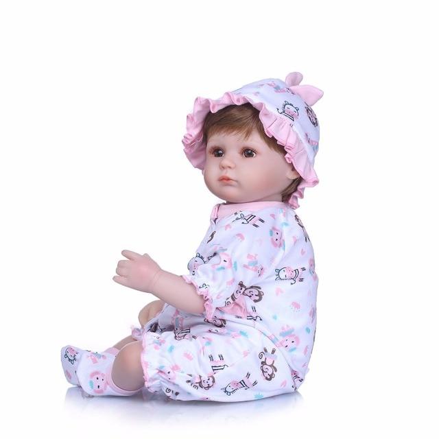 Handmade Dolls Reborn Silicone Realistic Bonecas Baby Girl Toys 4