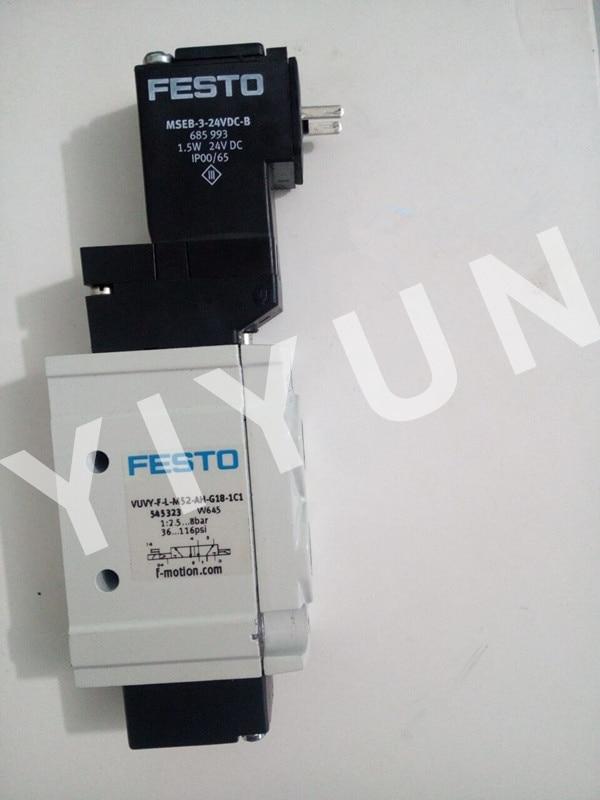 VUVY--F-L-M52-AH-G18-1C1 545323 VUVY--F-L-M52-AH-G14-2AC1 545422 FESTO Solenoid valve Pneumatic components vuvs l25 m32u ad g14 f8 1c1 575490 vuvs l20 m52 ad g18 f7 575249 vuvs l20 m32c md g18 f7 575260 festo solenoid valve
