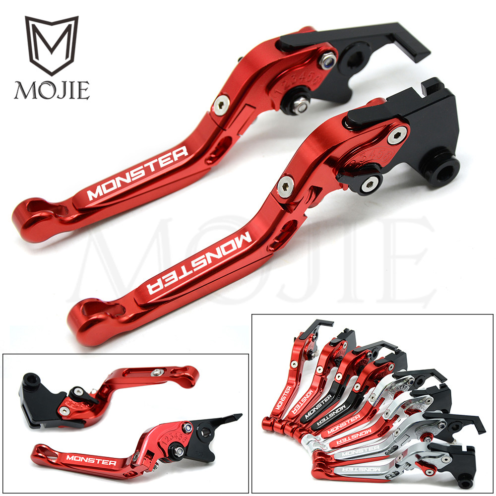 Monster Logo For Ducati Monster 696 695 796 400 620 M 600 M 900 M 620 400 M600 M900 M600 Motorcycle Brake Clutch Levers Set M600