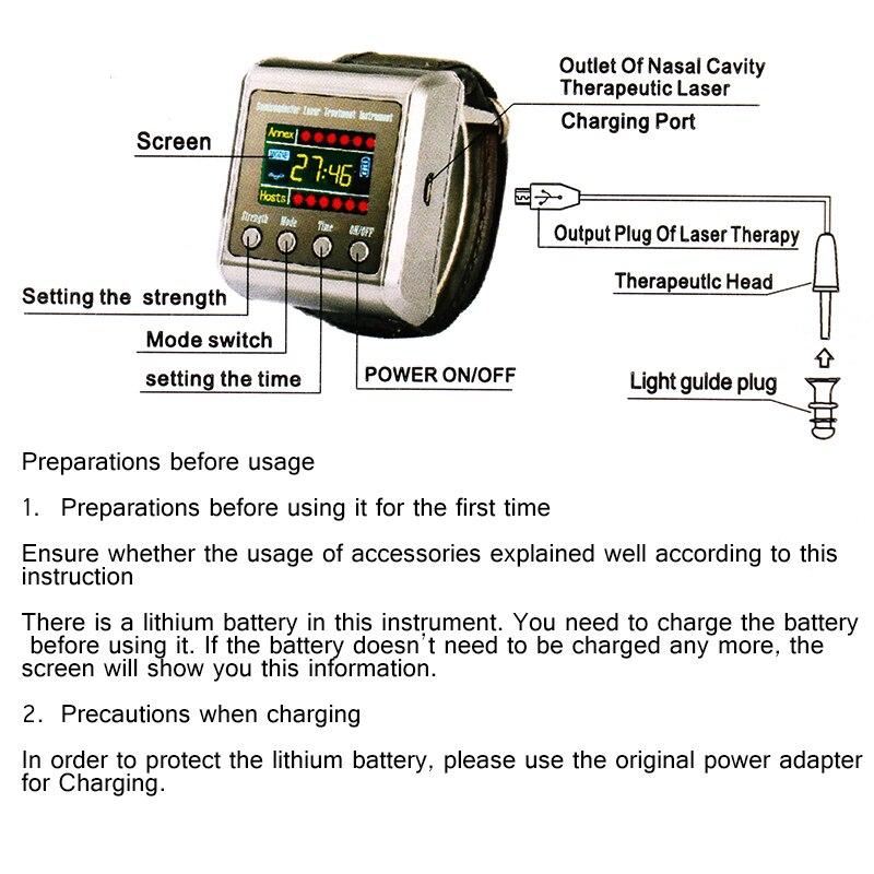 Физиотерапия, здоровье 650nm лазерный инструмент для лечения гипертоники, диабета, ринита, холестерина