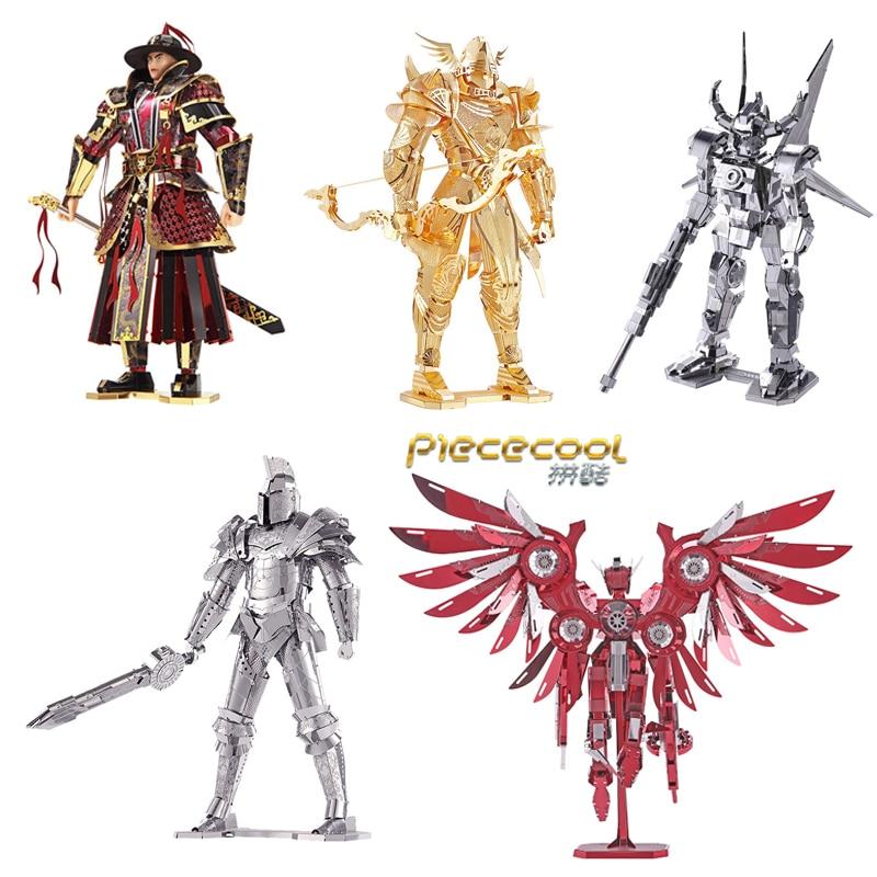 Piececool 3D Metal Puzzles Knight Models Black Knight Red Thunder DIY Assemble Model Kits DIY 3D Laser Cut Model Puzzle Toys