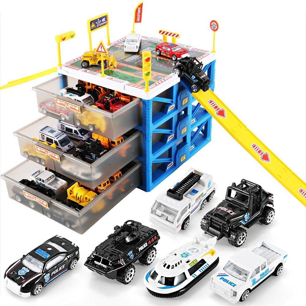 Carport De Cas Voiture Jouet Boîte Jouets Lot Enfant Éducatifs Parking Garage Tiroir Enfants Modèle Mini Rangement BhQrxtCsd