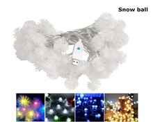Christmas Tree LED 10M 60LEDs 8MODES Snow Ball String lights Waterproof Wedding Party Decoration Holiday lighting