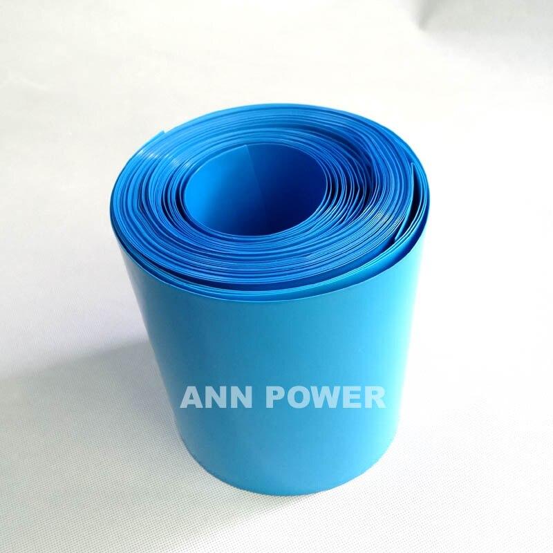 Il trasporto Libero 180mm larghezza PVC Batteria termorestringibile tubo W180mm bule PVC tubi Termorestringenti Utilizzato per la batteria al litio pacchetto