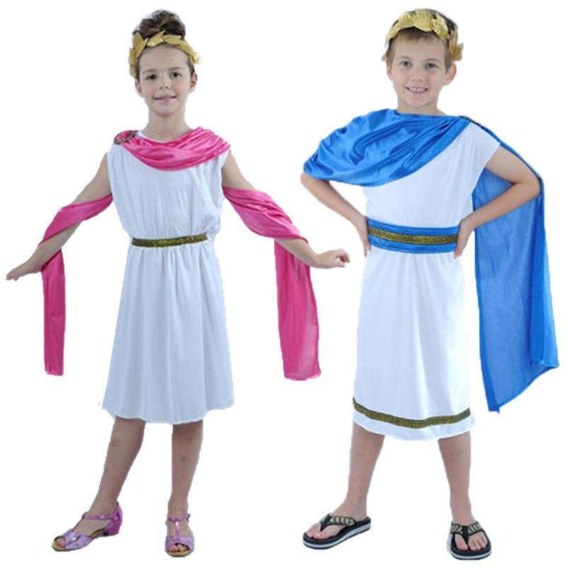 Kids Boy Girl Christmas Roman Clothes Prince Princess ...