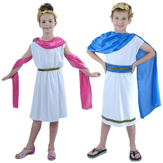 e42870e27881 Kids Boy Girl Christmas Roman Clothes Prince Princess Ancient Roman  Clothing Halloween Arab Cosplay Costumes for Children Child. Price: